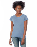 04860C1 Alternative Ladies' Garment-Dyed Cotton Distressed Vintage Fashion T-Shirt