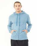 09880E Alternative Men's Rocky Eco-Mock Twist Mock Neck Zip Hoodie