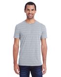 152A Threadfast Men's Invisible Stripe Short-Sleeve T-Shirt