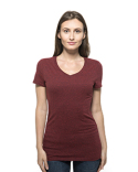 202B Threadfast Ladies' Triblend Short-Sleeve V-Neck T-Shirt