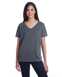 203FV Threadfast Ladies' Triblend Fleck Short-Sleeve V-Neck T-Shirt