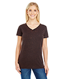 215B Threadfast Ladies' Cross Dye Short-Sleeve V-Neck T-Shirt