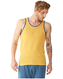 22060E1 Alternative Men's Eco Jersey Triblend Double Ringer Fashion Tank