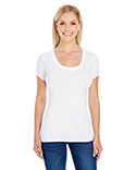 220S Threadfast Ladies' Spandex Short-Sleeve Scoop Neck T-Shirt