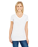 230B Threadfast Ladies' Pigment-Dye Short-Sleeve V-Neck T-Shirt
