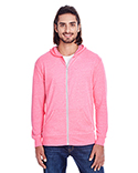 302Z Threadfast Unisex Triblend Full-Zip Light Hoodie
