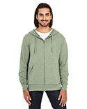 321Z Threadfast Unisex Triblend French Terry Full-Zip