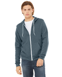 3739 Bella + Canvas Unisex Poly-Cotton Fleece Full-Zip Hooded Sweatshirt