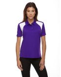 75066 Ash City - Extreme Eperformance™ Ladies' Colourblock Textured Polo