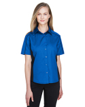 77042 Ash City - North End Ladies' Fuse Colorblock Twill Shirt