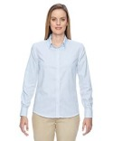 77043 Ash City - North End Ladies' Paramount Wrinkle-Resistant Cotton Blend Twill Checkered Shirt