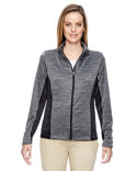 78203 Ash City - North End Ladies' Shuffle Performance Mélange Interlock Jacket