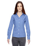 78690 Ash City - North End Ladies' Precise Wrinkle-Free Two-Ply 80's Cotton Dobby Taped Shirt