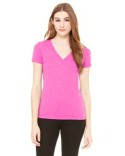 8435 Bella + Canvas Ladies' Triblend Short-Sleeve Deep V-Neck T-Shirt