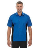 87042T North End Men's Tall Fuse Colorblock Twill Shirt