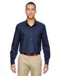 87043 North End Men's Paramount Wrinkle-Resistant Cotton Blend Twill Checkered Shirt