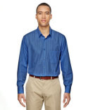 87044 North End Men's Align Wrinkle-Resistant Cotton Blend Dobby Vertical Striped Shirt
