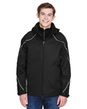 88196 Ash City - North End Men's Angle 3-in-1 Jacket with Bonded Fleece Liner