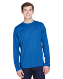 88199 Core 365 Men's Agility Performance Long-Sleeve Piqué Crewneck