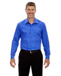 88674 Ash City - North End Men's Boardwalk Wrinkle-Free Two-Ply 80's Cotton Striped Tape Shirt
