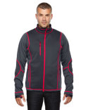 88681 Ash City - North End Men's Pulse Textured Bonded Fleece Jacket with Print