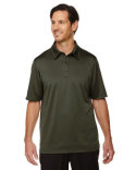 88803 Ash City - North End Men's Exhilarate Coffee Charcoal Performance Polo with Back Pocket