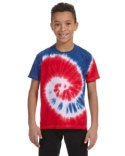 CD100Y Tie-Dye Youth 9 oz., 100% Cotton Tie-Dyed T-Shirt