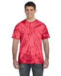 CD101 Tie-Dye Adult 5.4 oz., 100% Cotton Spider Tie Dye T-shirt