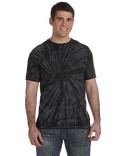 CD101 Tie-Dye Adult 5.4 oz. 100% Cotton Spider T-Shirt