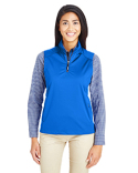 CE709W Core 365 Ladies' Techno Lite Three-Layer Knit Tech-Shell Quarter-Zip Vest