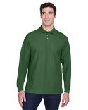 D110 Devon & Jones Men's Pima Piqué Long-Sleeve Polo
