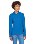D110W Devon & Jones Pima Piqué Long-Sleeve Polo