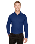 DG20LT Devon & Jones Men's Tall CrownLux Performance™ Plaited Long-Sleeve Polo