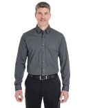 DG230 Devon & Jones Men's Central Cotton Blend Melange Button Down