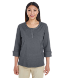 DG230W Devon & Jones Ladies' Central Cotton Blend Mélange Knit Top