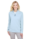 DG480W Devon & Jones Ladies' CrownLux Performance™ Clubhouse Micro-Stripe Quarter-Zip