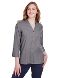 DG562W Devon & Jones Ladies' Crown Collection™ Stretch Pinpoint Chambray 3/4 Sleeve Blouse