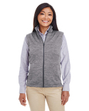 DG797W Devon & Jones Ladies' Newbury Mélange Fleece Vest