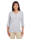 DP186W Devon & Jones Ladies' Perfect Fit  Y-Placket Convertible Sleeve Knit Top