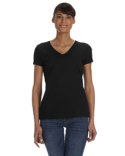 L39VR Fruit of the Loom Ladies' 8.3 oz./lin. yd. HD Cotton™ V-Neck T-Shirt