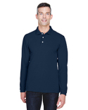 M265L Harriton Men's 5.6 oz. Easy Blend™ Long-Sleeve Polo