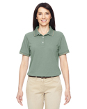 M270W Harriton Ladies' 5.6 oz. Tipped Easy Blend  Polo