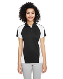 M385W Harriton Ladies' Advantage Snag Protection Plus IL Colorblock Polo