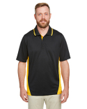 M386T Harriton Men's Tall Flash Snag Protection Plus IL Colorblock Polo