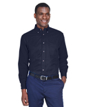 M500T Harriton Easy Blend™ Tall Long-Sleeve Twill Shirt with Stain-Release