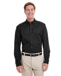 M581T Harriton Men's Tall Foundation 100% Cotton Long Sleeve Twill Shirt with Teflon™