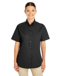 M582W Harriton Ladies' Foundation 100% Cotton Short Sleeve Twill Shirt Teflon™