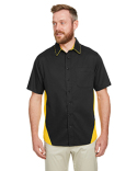 M586T Harriton Men's Tall Flash IL Colorblock Short Sleeve Shirt