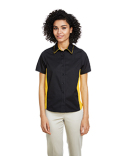 M586W Harriton Ladies' Flash IL Colorblock Short Sleeve Shirt