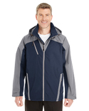 NE700 Ash City - North End Men's Embark Interactive Colorblock Shell with Reflective Printed Panels